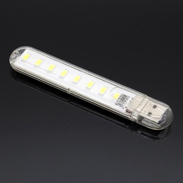 Mini USB 3W SMD5730 White/Warm White Mobile Power Lamp Camping 8 LED Night Light DC5V