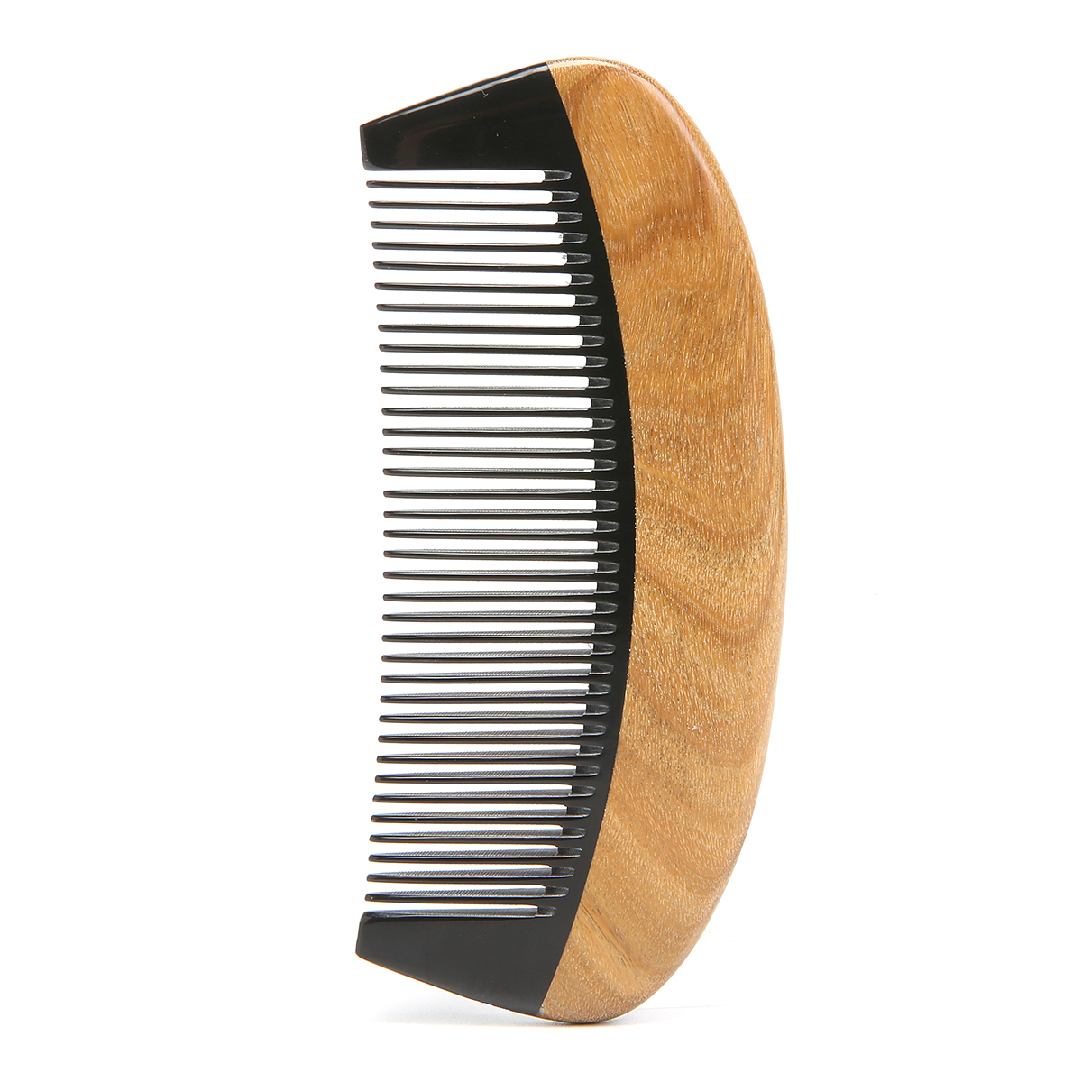 Anti-static Green Sandalwood Oxhorn Hair Comb Portable