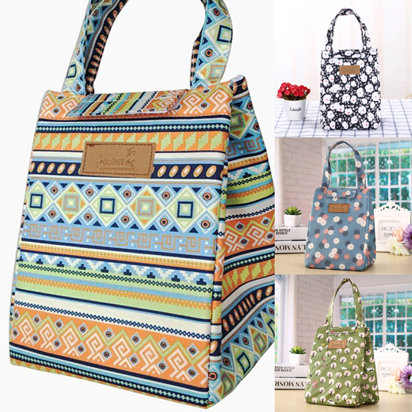 IPRee Retro Waterproof Lunch Picnic HandBags Insulation Cold Bag Travel Supplies