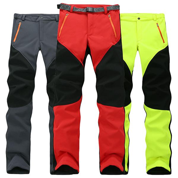 Men's Waterproof Windproof Fleece Ski Trousers