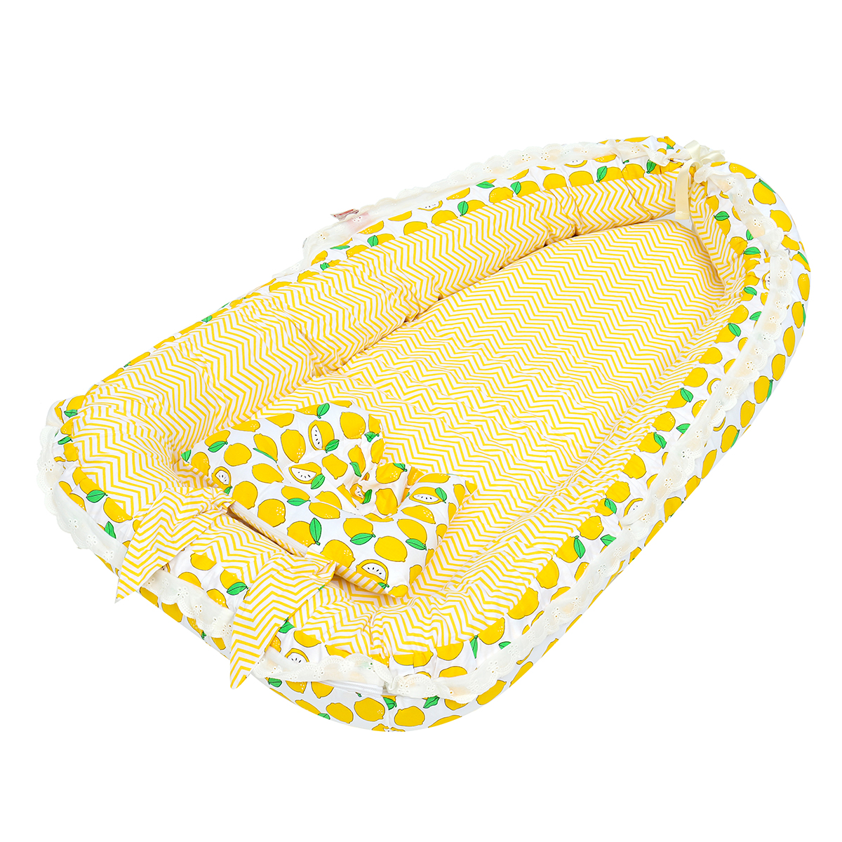 Portable Folding Bed Baby Pillow Sleep Cushion Cot Crib Newborn Nest Bed Mattress Breathable