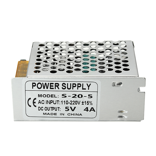 AC 110-220V To DC 5V 4A 20W Driver Switch Power Supply Transformer For LED Strip Light