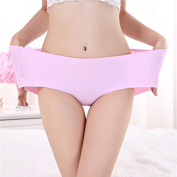 L-2XL Elastic Waist Smooth Woman Underwear