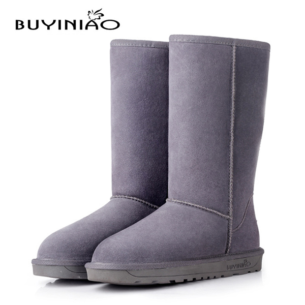 Women Winter Snow Boots Mid Calf Keep Warm Boots Flat Bottom Winter Boots