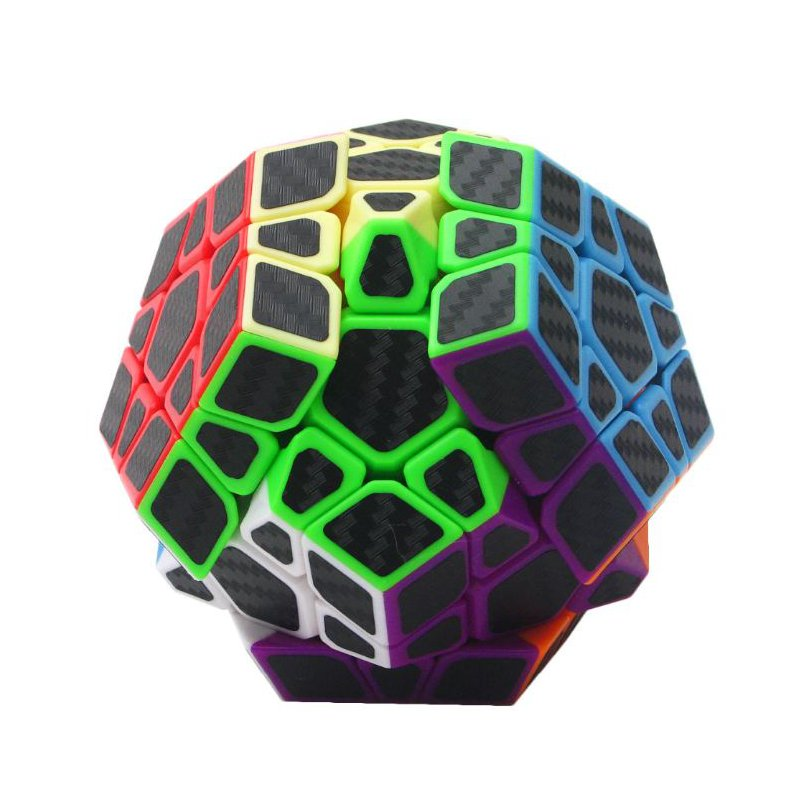 5Pcs Per Box Carbon Fibre Magic Cube Pyraminx Dodecahedron Axis Cube 2x2 And 3x3 Cube Speed Puzzle