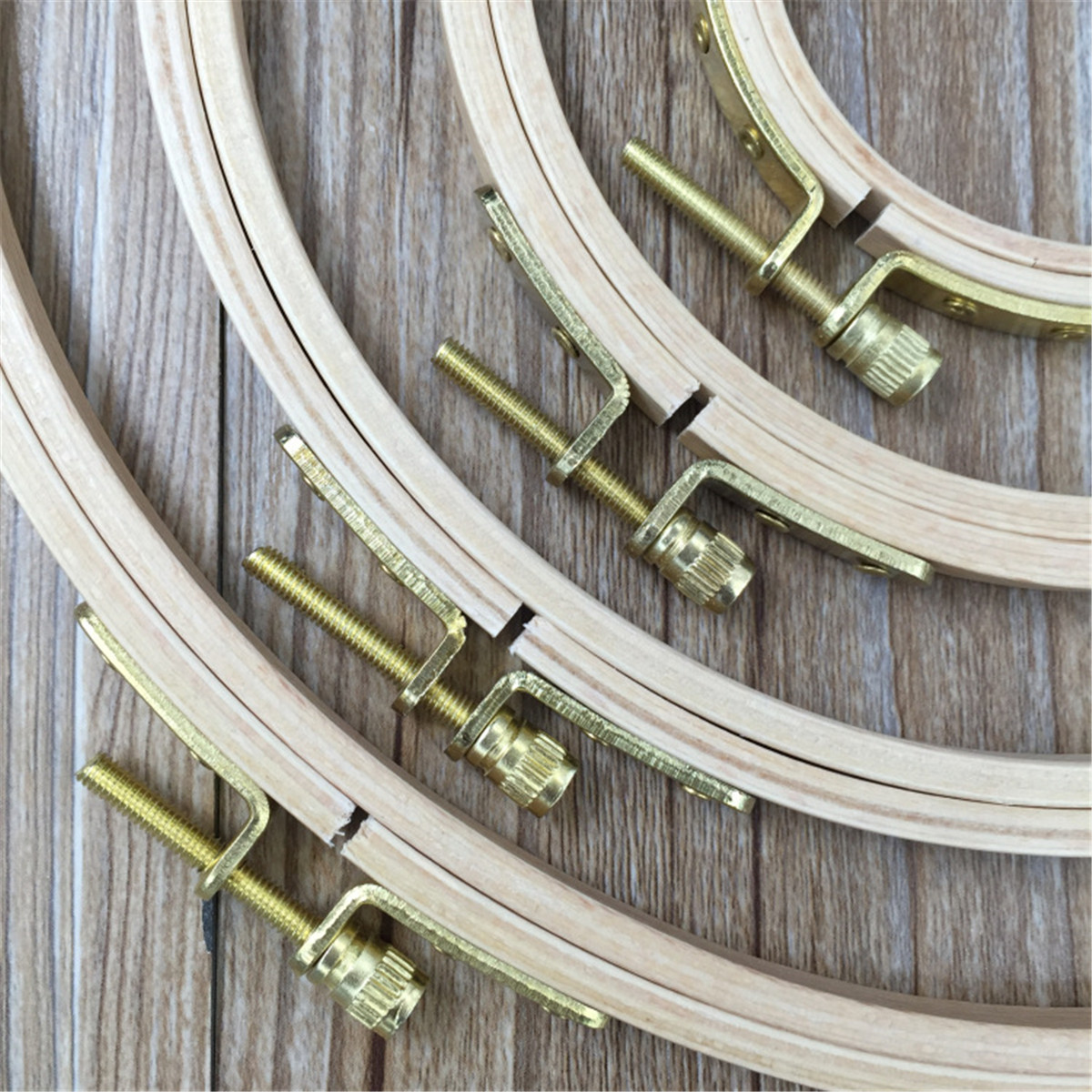 7 Size Wooden Embroidery Hoops Cross Stitch Sewing Tools Craft Ring Frame Machine Tool