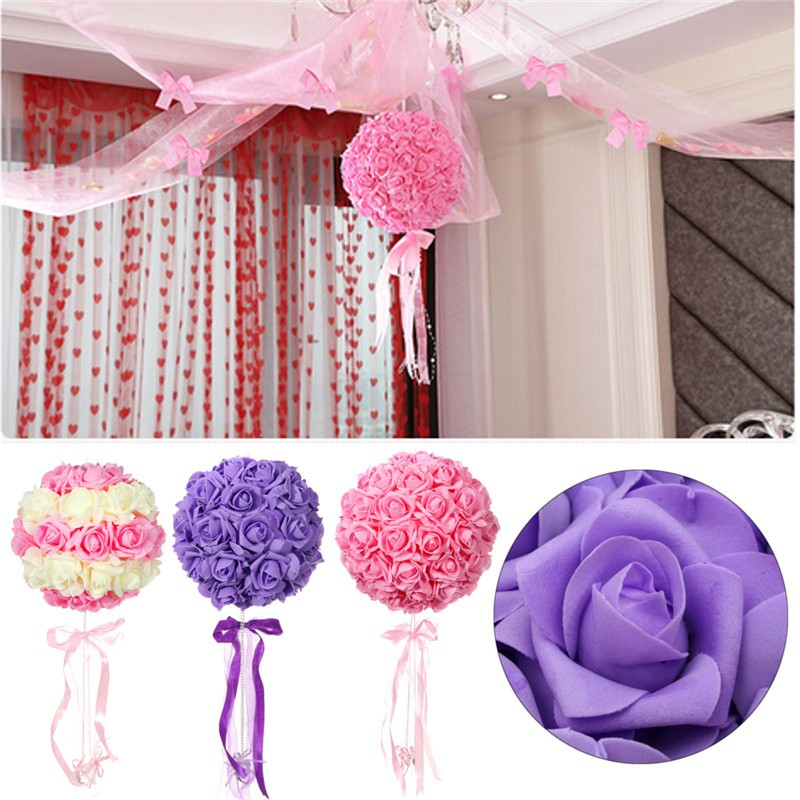 DIY 50 Colourful Foam Rose Artificial Flower Wedding Bride Bouquet Party Decoration