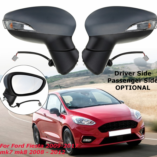 Door Electric Wing Car Mirror Heated Driver Or Passenger Side For Ford Fiesta 2009-2017