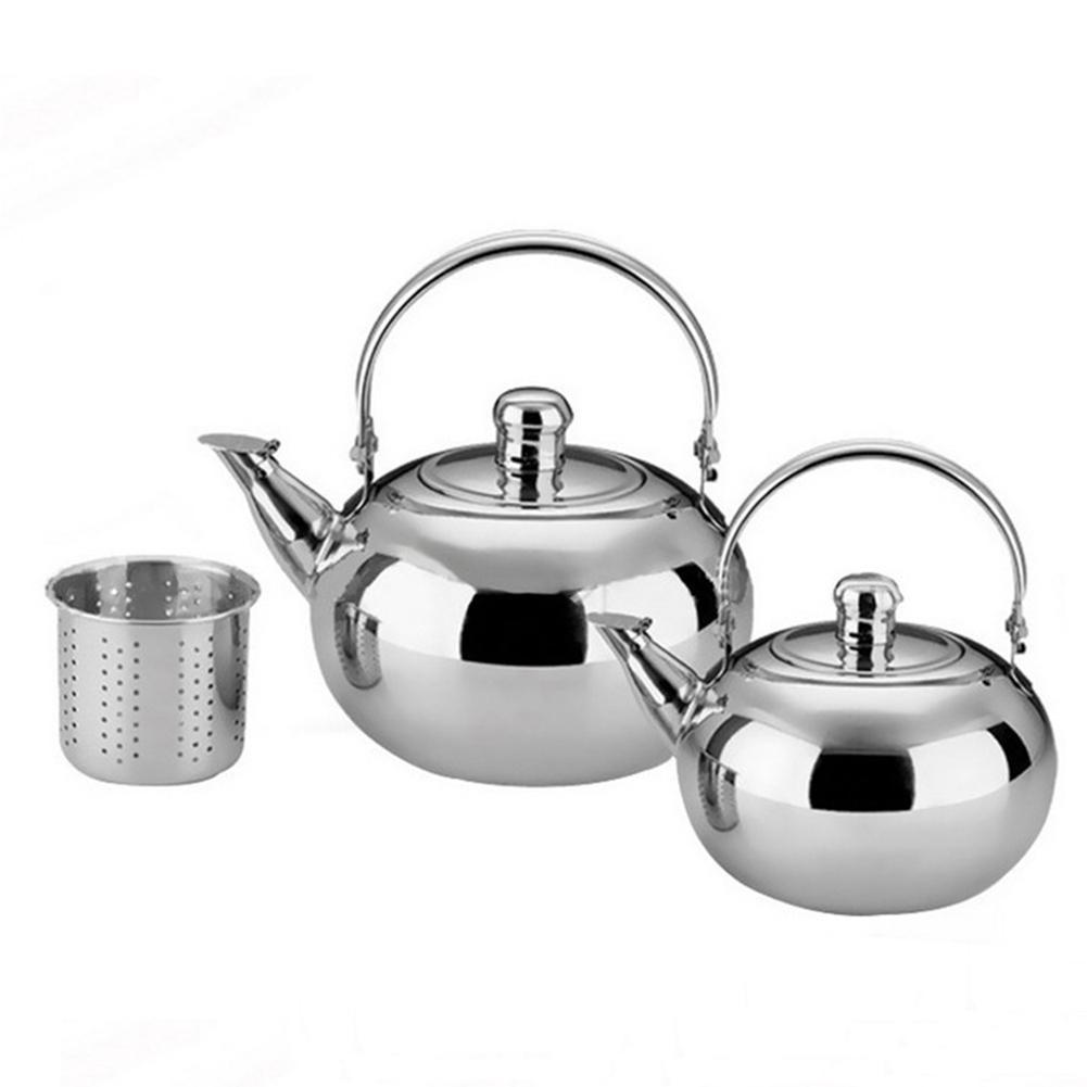1/1.5/2/2.5L Stainless Steel Tea Pot Coffee Pot with Tea Strainer Infuser Filter