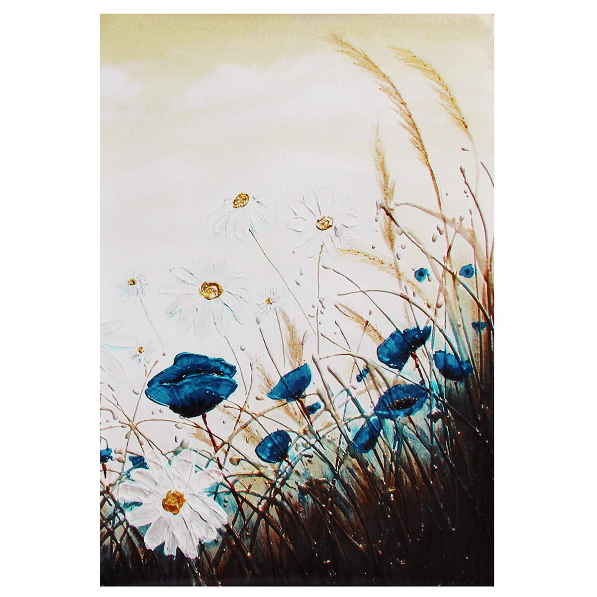 New Daisy Style Decorative Painting Canvas Painting No Frame Wall Art Display