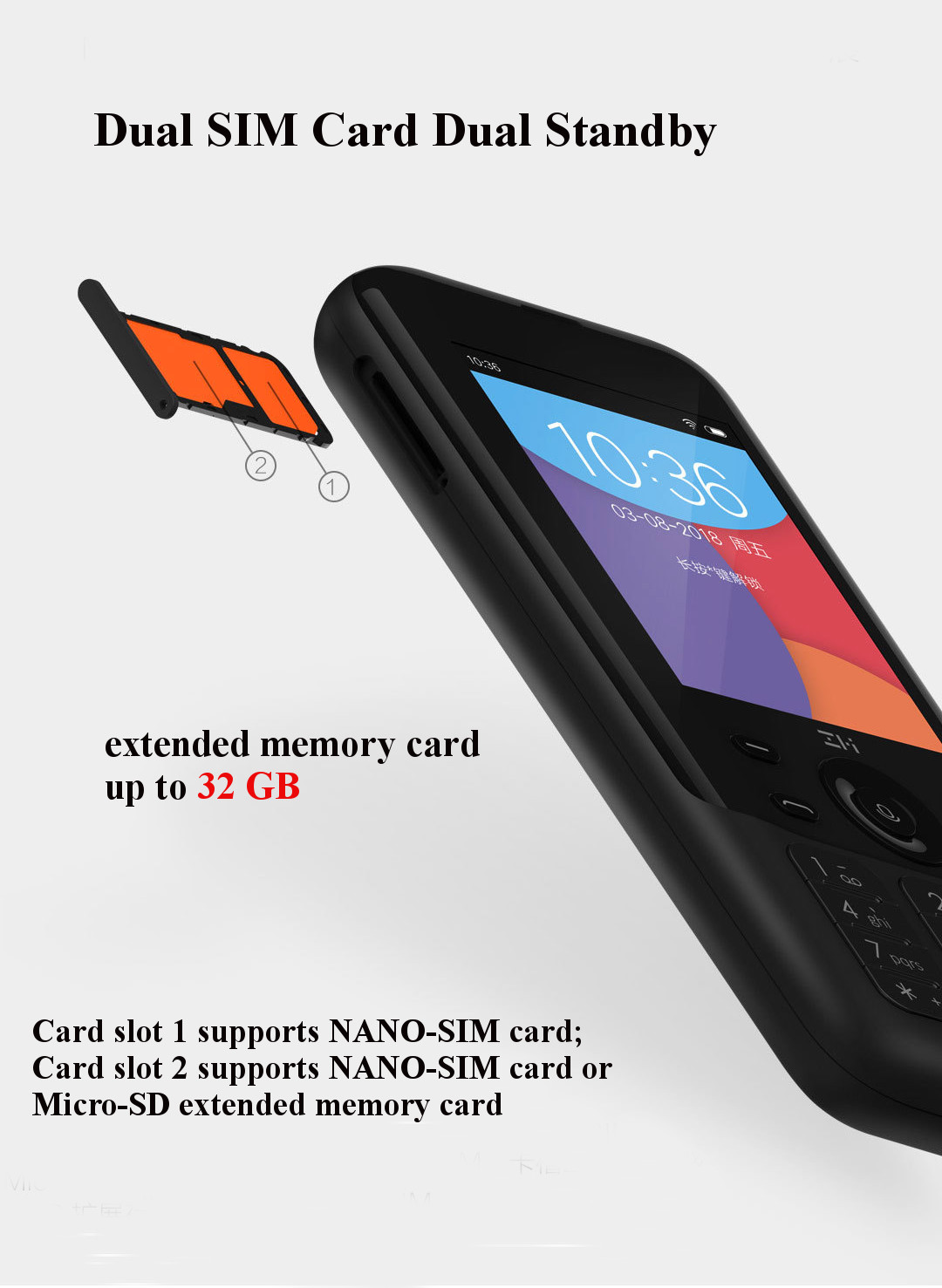 ZMI Z1 4G Network Wifi Multi-user Hotspot Sharing 5000mAh Power Bank Feature Phone from Xiaomi youpin