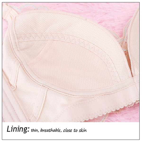 Lace Embroidery Sexy Brassiere Wireless Thin Bra