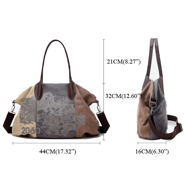 Vintage Large Capacity Women Canvas Casual Hobos Bag Ladies Crossbody Bags Ruched Solid Handbag