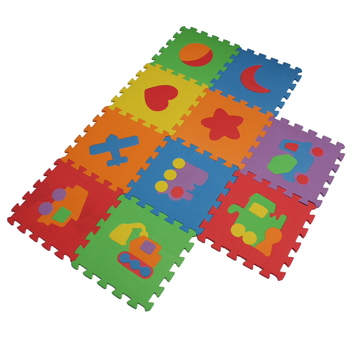 10pcs EVA Foam Baby Play Mats Puzzle Non-slip Kids Game Crawling Playmat