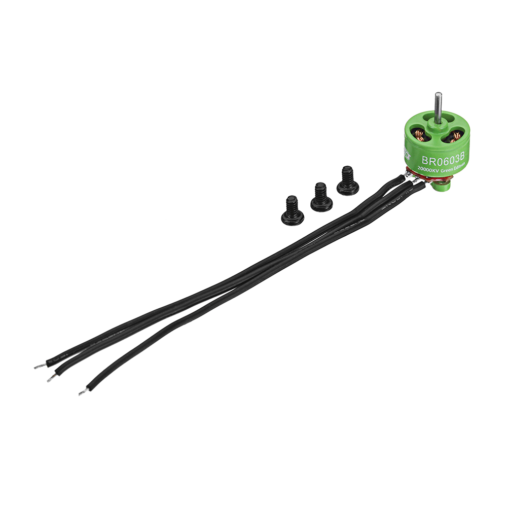 8 PCS Wholesale Racerstar 0603 BR0603B Green Edition 20000KV Brushless Motor 1-2S For RC Drone