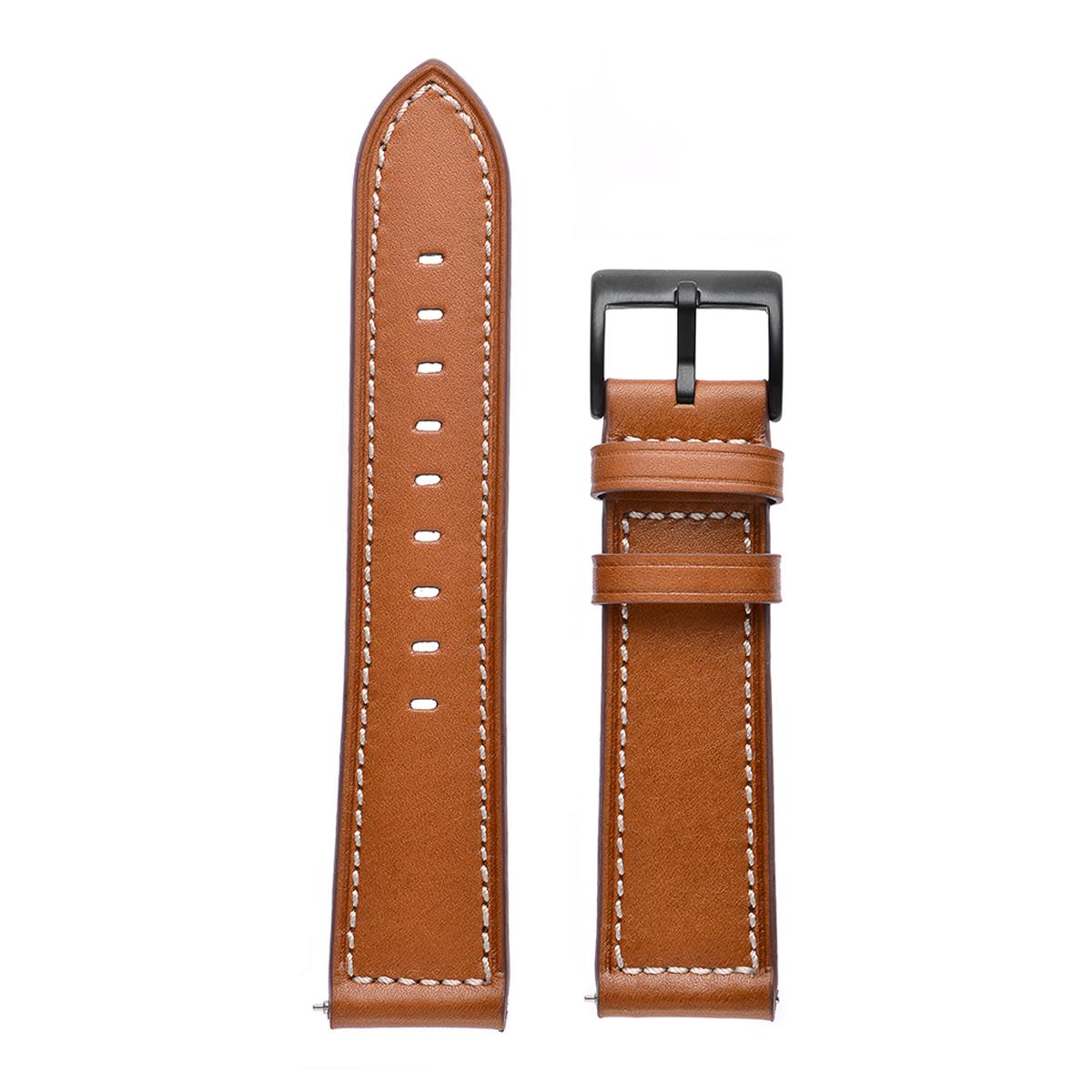 Genuine Leather Watch Band Strap For Samsung Gear Sport S4/Garmin Vivoactive 3