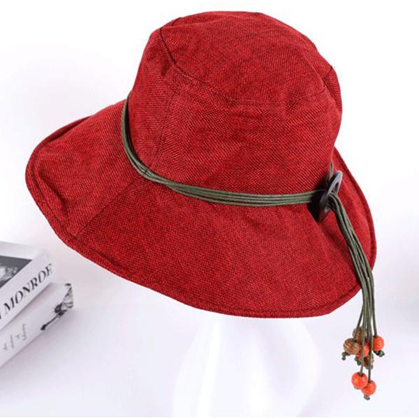 Women Wide Brim Sunscreen Beach Caps Casual Outdoor Traveling Visor Bucket Hat