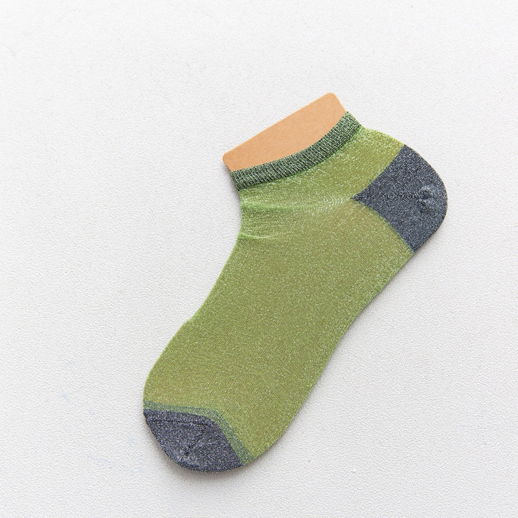 Women Ultra-thin Glass Silk Breathable Ankle Socks