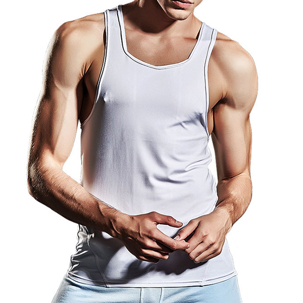 SUPERBODY Summer Loose Comfortable Quick Drying Vest Men's Casual Sport Fitness Sleeveless Vests