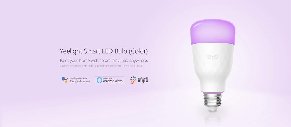 3PCS Yeelight YLDP06YL E27 10W RGBW Smart LED Bulb Work With Amazon Alexa AC100-240V(Xiaomi Ecosystem Product)
