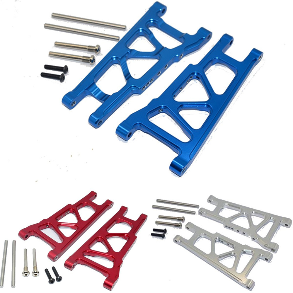 1 Set 1/10 Aluminum Front / Rear Lower Arm For Traxxas Slash 4X4 Blue Silver Red Rc Car Parts