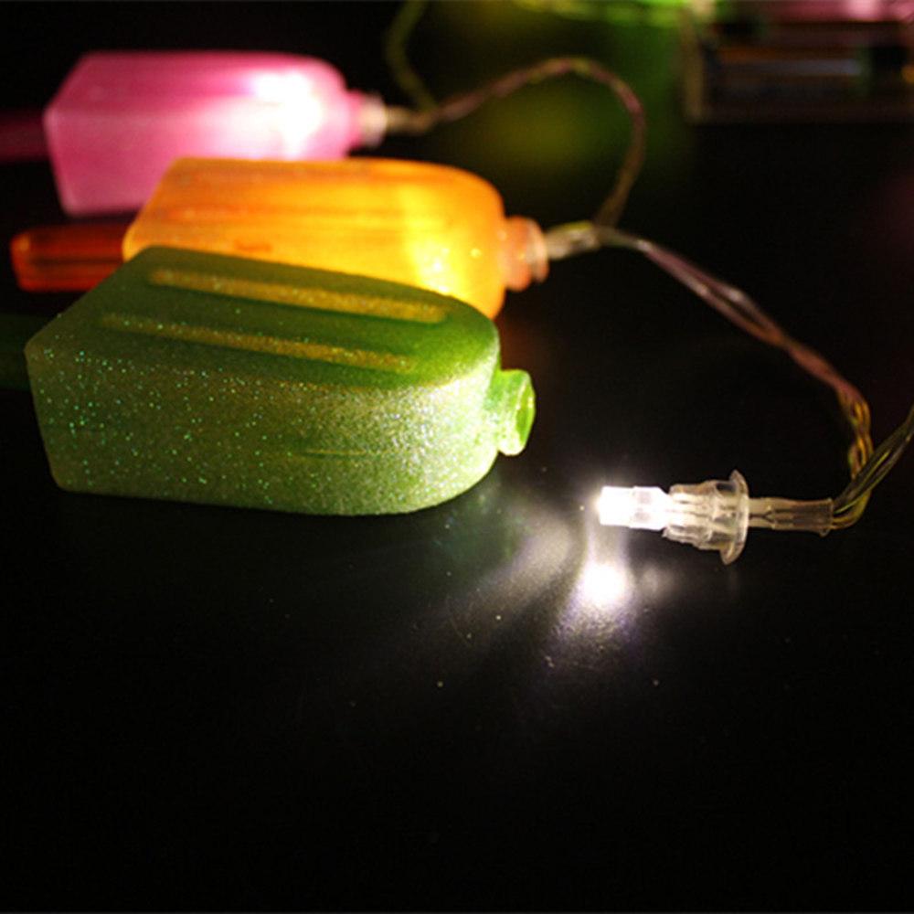 KCASA 1.8M 10 LED Ice Cream String Lights LED Fairy Lights for Festival Christmas kids Dedroom Decoration Battery Powered