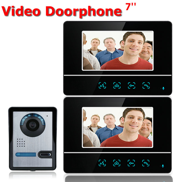 ENNIO SY811FA12 7 inch TFT Touch Screen LCD Video Door Phone Wired Video Intercom 2 Monitor Doorbell