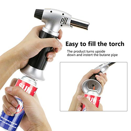 Windproof Creme Brulee Culinary Butane Refillable cook Torch Jet Flame Lighter Flame Torch