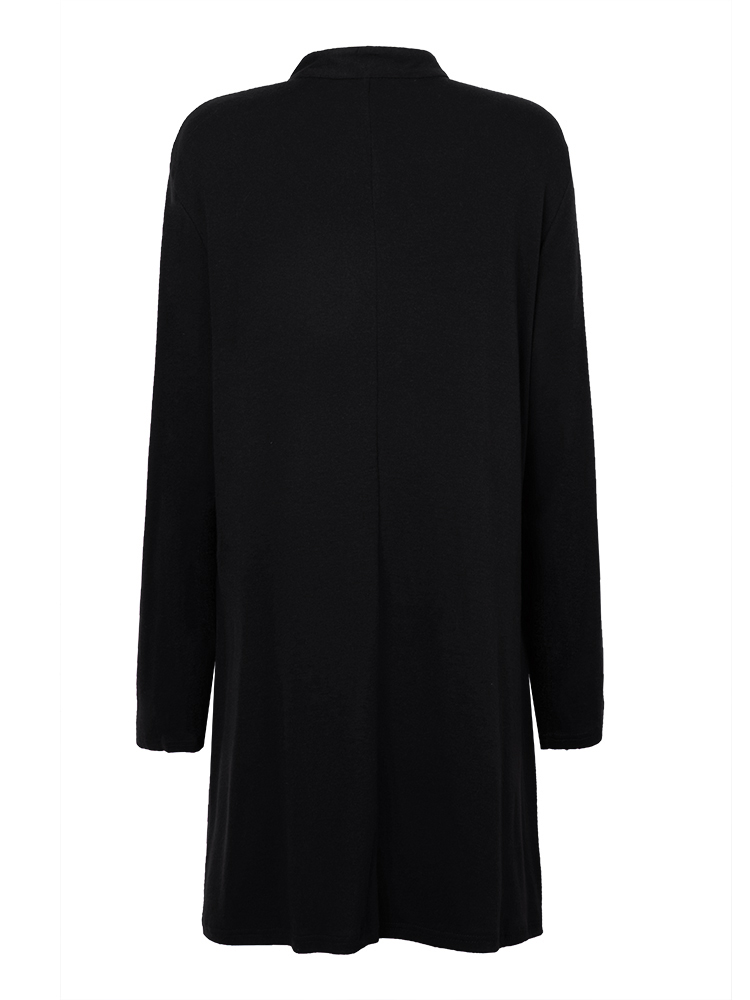 Elegant Plus Size Loose Women Cashmere Pleated Dress
