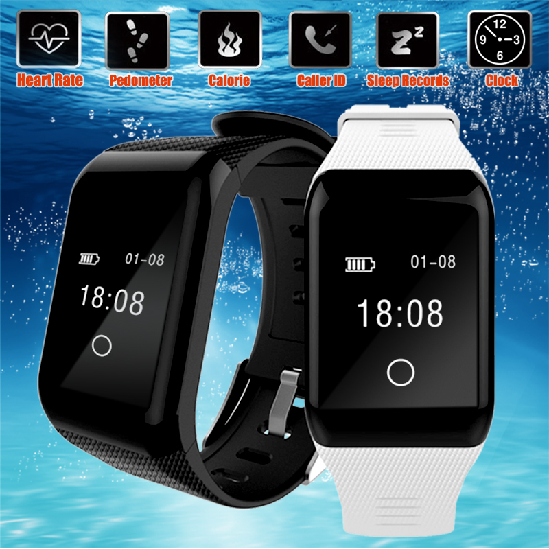 Blood Oxygen Pressure Heart Rate Monitor Bus Subway Door Card Sensor Smart Watch for iOS Android