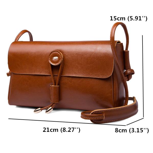 Genuine Leather Hasp Shoulder Bags Girls Vintage Crossbody Bags Summer Phone Bags