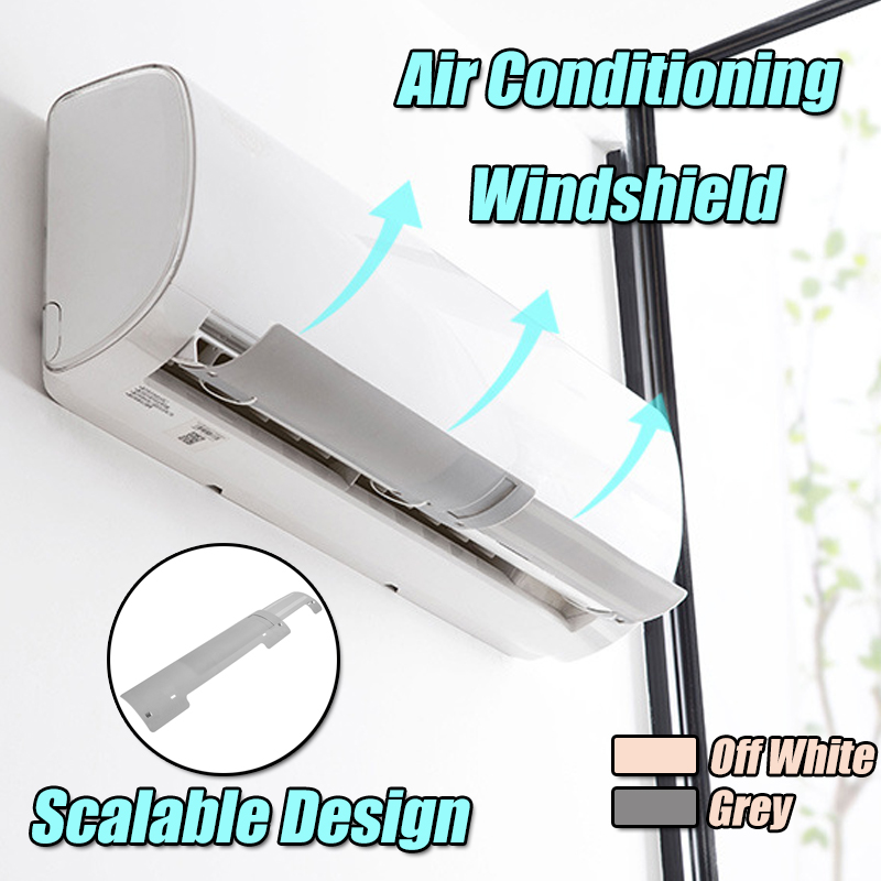 Air Conditioning Wind Shield Cold Wind Gas Deflectors Retractable Baffle Plastic Expansion Board
