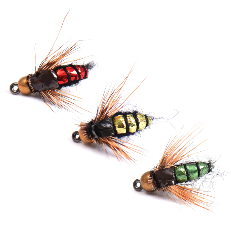 LEO 40pcs/lot Fly Fishing Lure Set Artificial Bait For