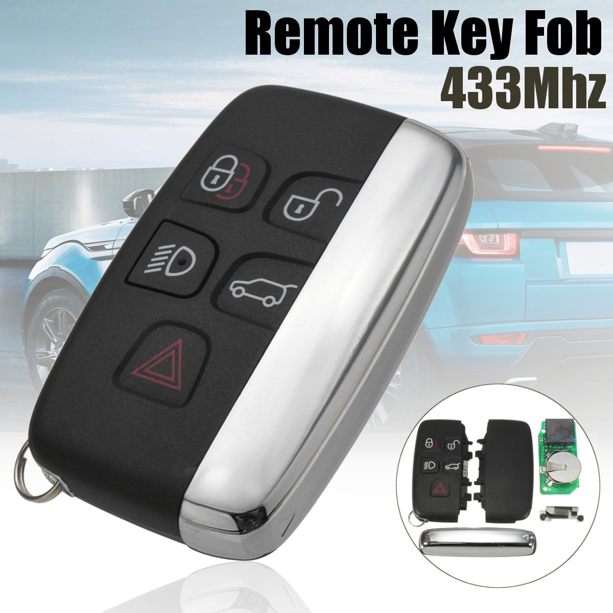 433Mhz Remote Key Fob w/ 7953 Chip for LAND ROVER RANGE ROVER SPORT EVOQUE 10-16