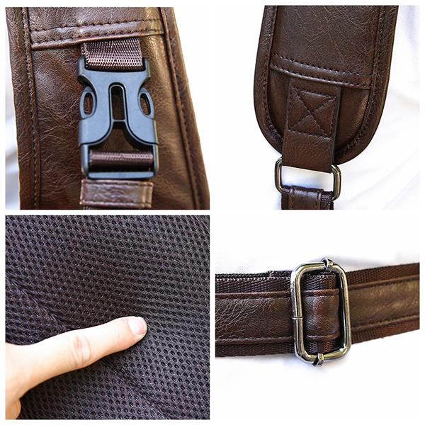 Men Large Size USB Charging Port Chest Bag Sling Bag