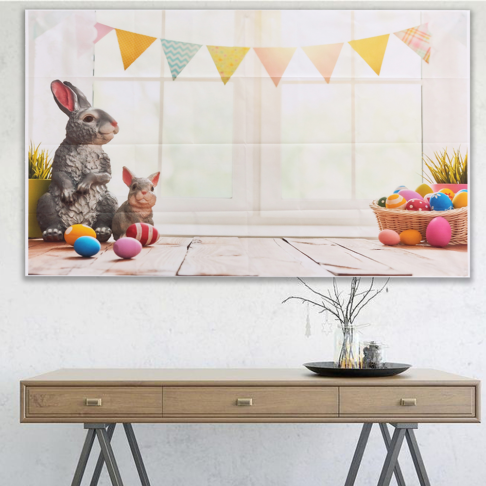 5x7ft/3x5ft Easter Bunny Thin Vinyl Photography Backdrop Background Studio Photo Prop