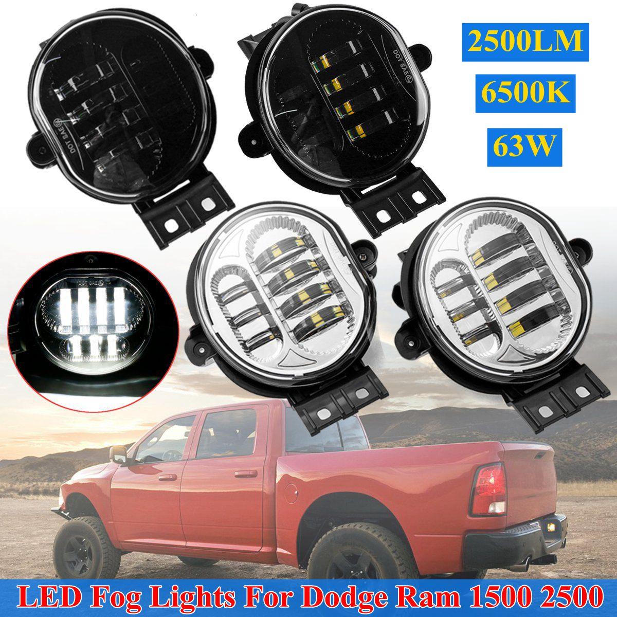 Fit 2002-2008 Dodge Ram 1500 2003-2009 2500 3500 Glass Bumper Fog Lights w//Bulb