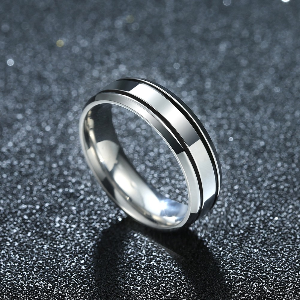 Silver Stainless Steel Women Men Couple Lover Ring Jewelry Gift For Wedding