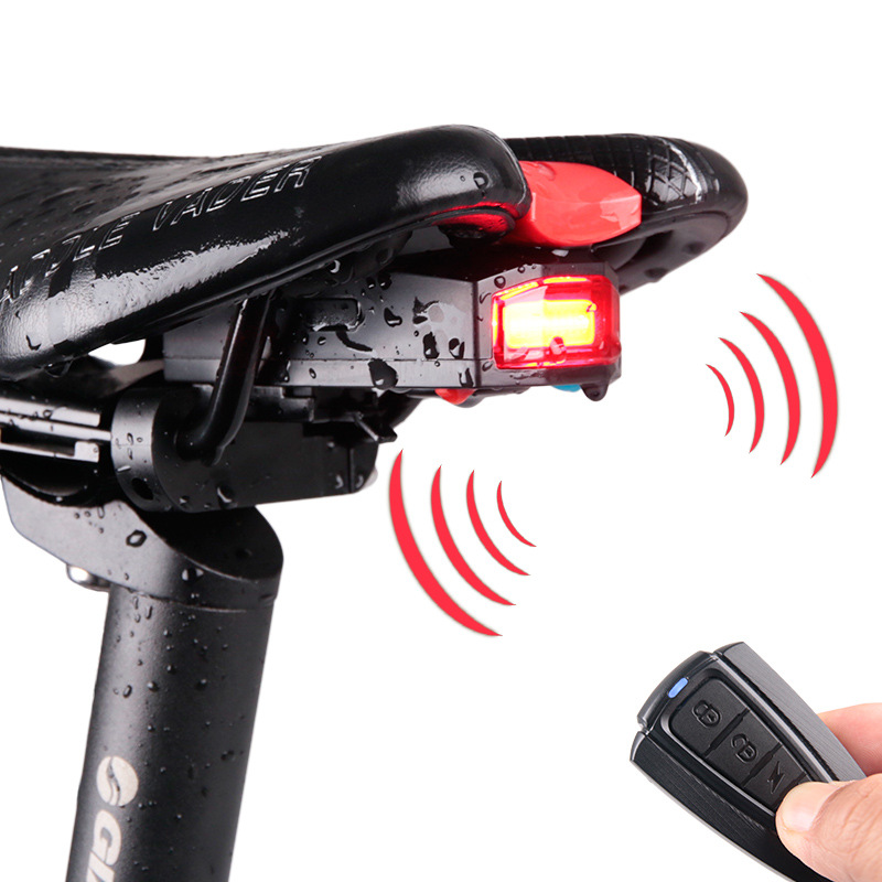 ANTUSI 3 in 1 Bicycle Wireless Rear Light Cycling Remote Control Alarm Lock Mountain Bike Light