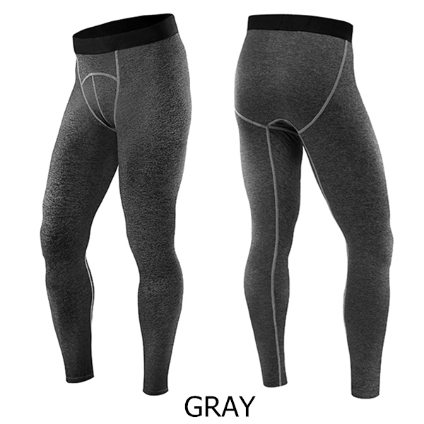 Men Spandex Polyester Elastic Stretch Quick Drying GYM Sports Skinny Pants 5 Color