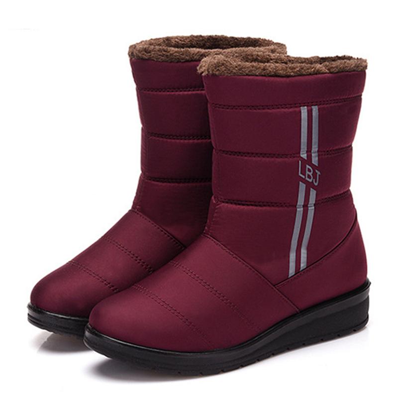 Waterproof Fur Plush Snow Boots