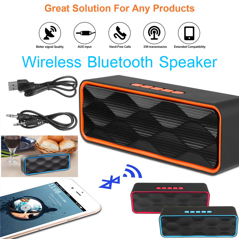 Wireless bluetooth Speaker Portable Outdoor Stereo HD Audio Enhanced Bass