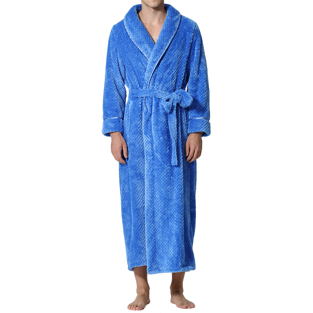 Flannel Thick Warm Winter Full Length Pajamas Sleepwear Robe