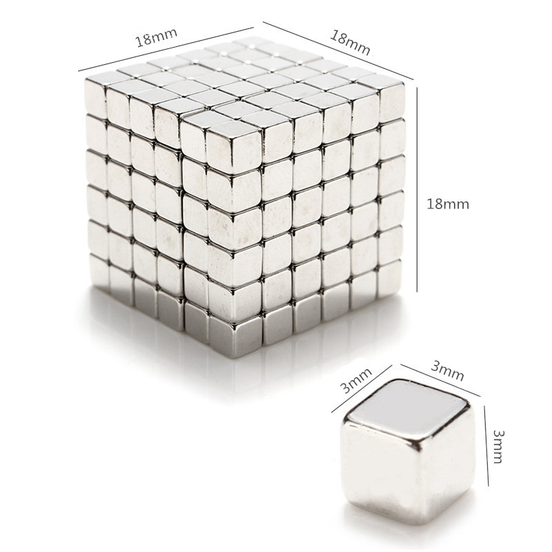 3/4/5mm 216pcs Magnetic Toys Cube Magnet Balls Magic Square 3D Puzzle Ball Sphere Gift Decor With Box
