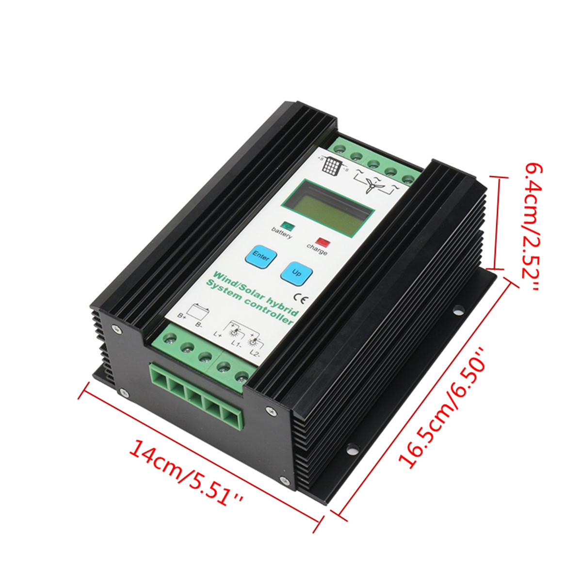 600W LCD Economic PWM Controller Wind Solar Hybrid System 12v/24v Automatic Battery Controller