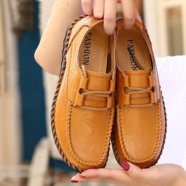 Women Genuine Leather Handmade Casual Outddor Flats
