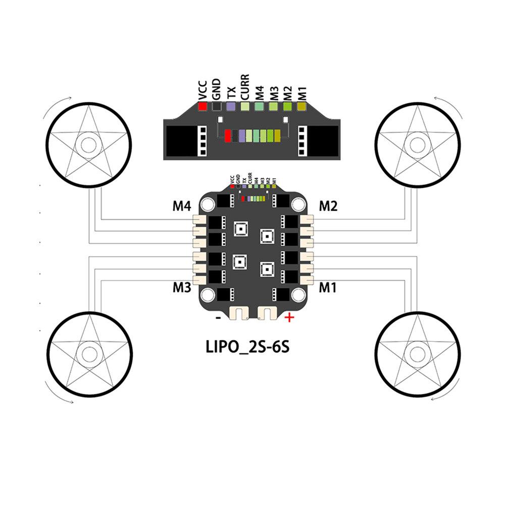 STEELE 5 220mm 5 Inch Frame Kit & HIFIONRC F722 Pro V2 F7 Flight Controller w/ 5V 10V BEC & 45A BL_32 3-6S ESC Combo Support DJI Air Unit for FPV Racing Drone