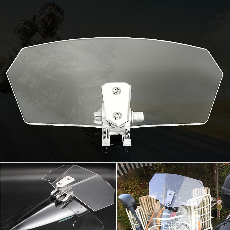 Motorcycle Universal Clear Windshield Windscreedn Screen Protector Sport Bike