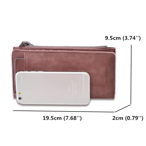 Women Retro Hasp Long Wallet Detachable Card Holder Coin Bags 5.5'' Phone Purse For Iphone 7Plus