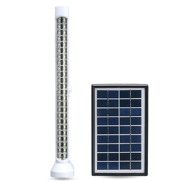 Solar Powered 48 LED Dimmable Light Bar Floodlight Outdoor Garden Pathway Lamp